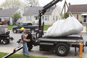 debris bag pickup