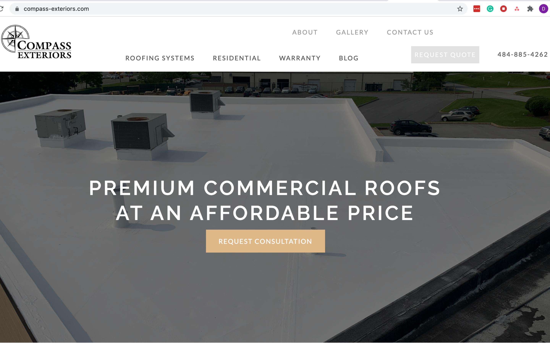 best construction website design