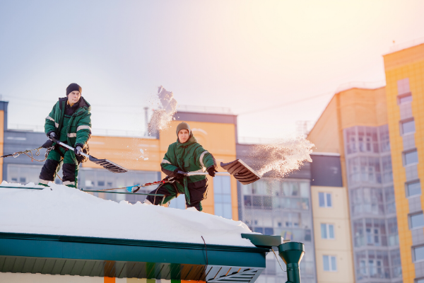 commercial roof snow removal without rb4000