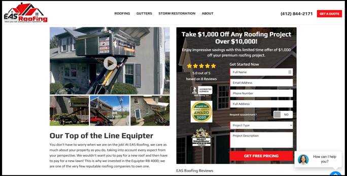 eas roofing equipter