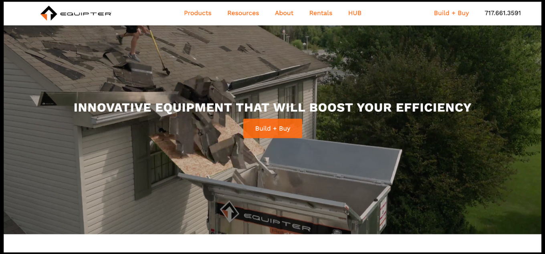 equipter on website