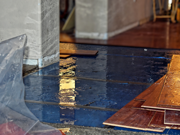 floor water damage