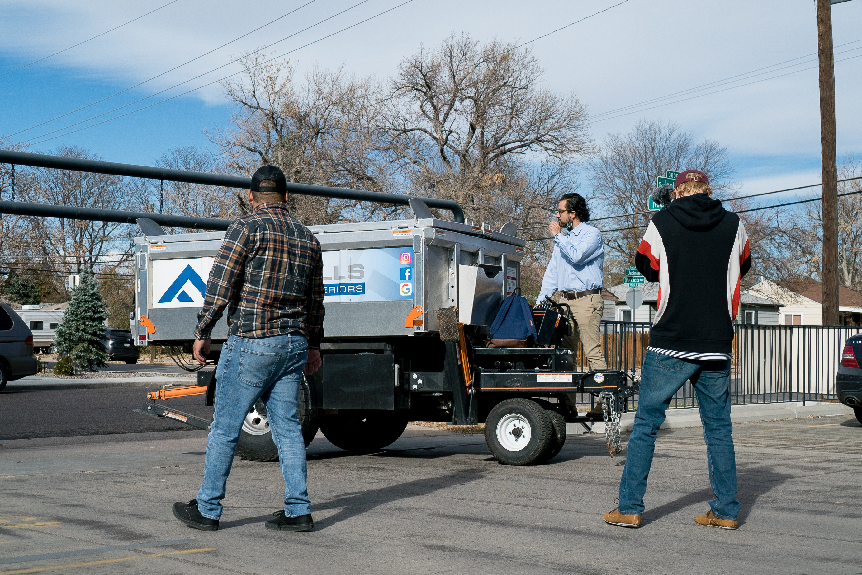 foothills roofing and exteriors team drives their equipter