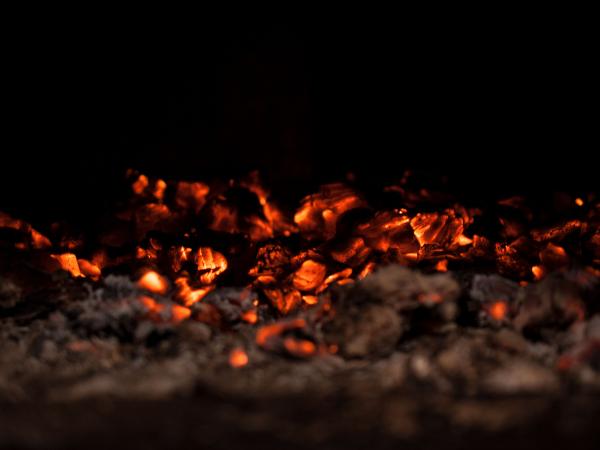 hot coals fire leads