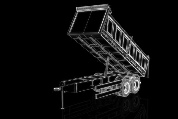 how dump trailers work