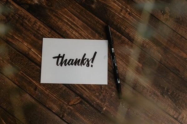 send a thank you card