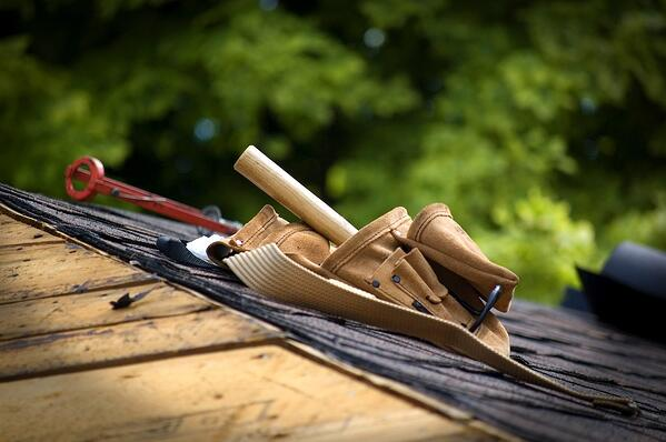 tools on roof