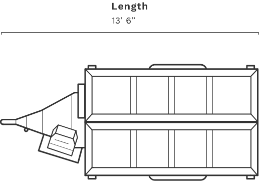 rb4000 transport length